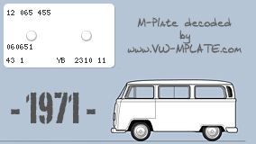 VW T2a 1970 Mplate-7698